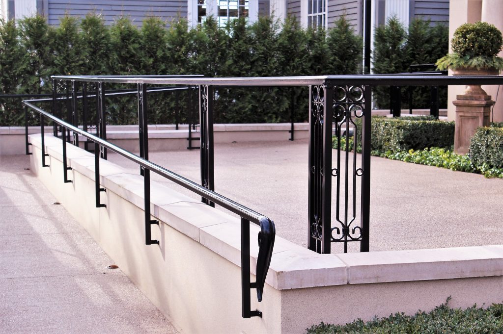 chapman house rochester hills stone step metal handrails ada ramp rail cost per foot exterior architecture tuscan design balcony gate