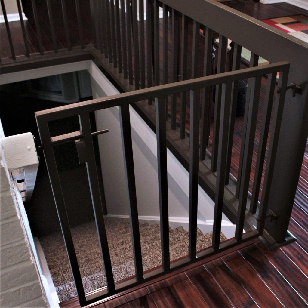 baby dog infant gate stair safety gate wall attachment vertical bars contemporary interior design railing attachment