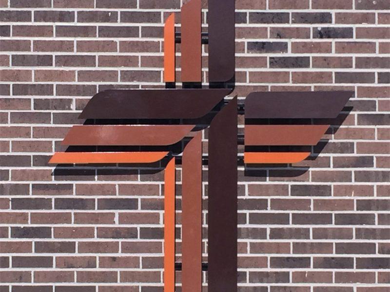 Steel Cross Wall Sculpture Lcms Great Lakes Metal