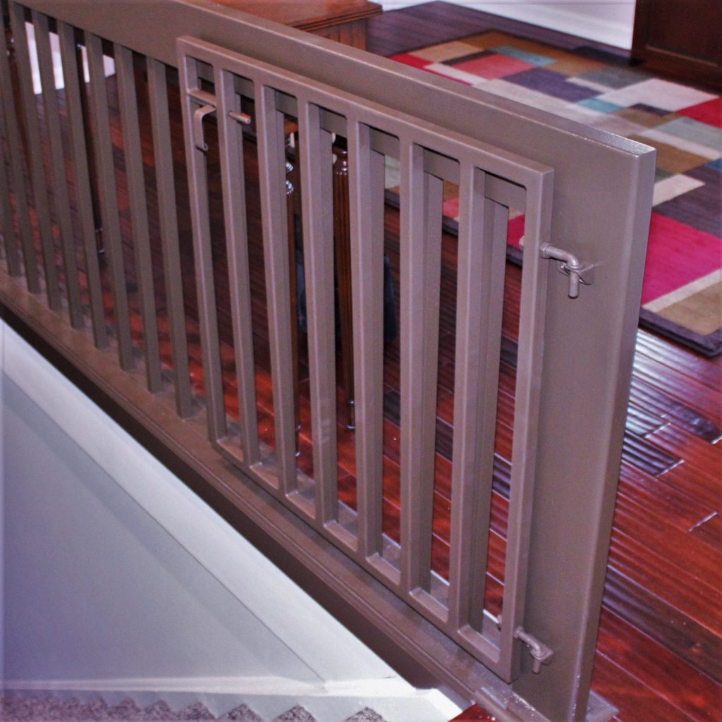 baby dog infant gate stair safety gate wall attachment vertical bars modern interior design railing attachment