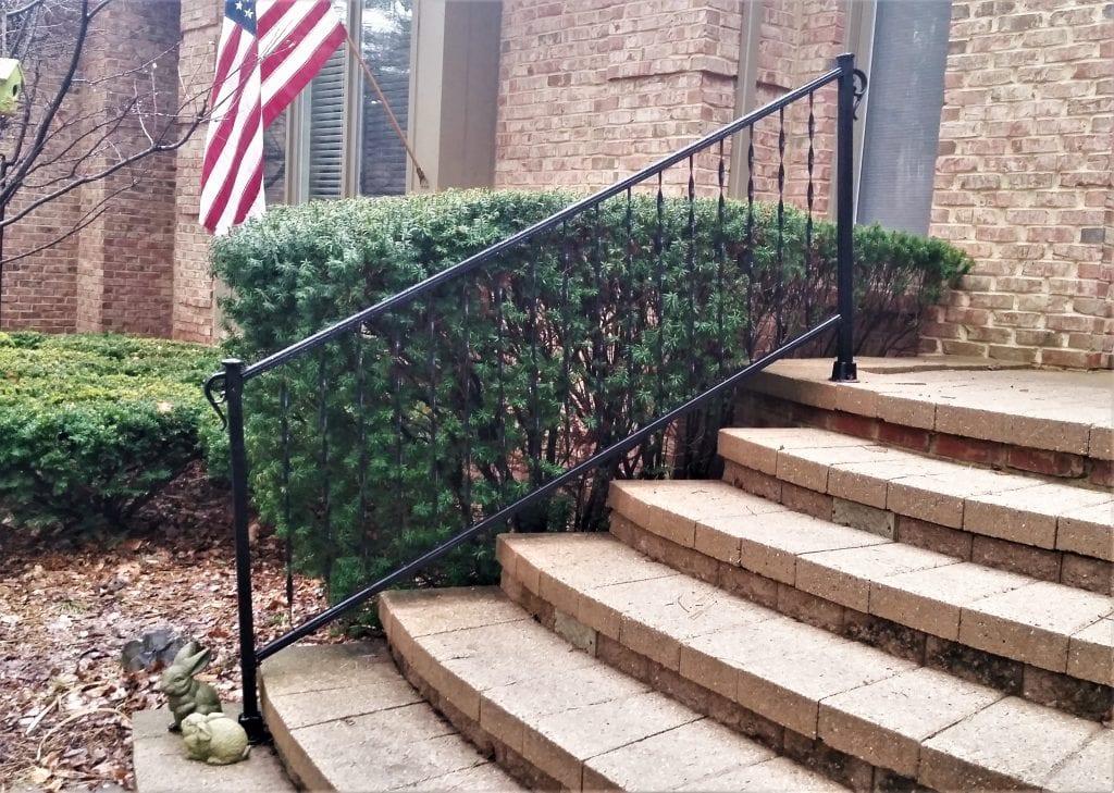 beforephoto cheap metal porch rail repla wrought iron step rail front porch metal railing