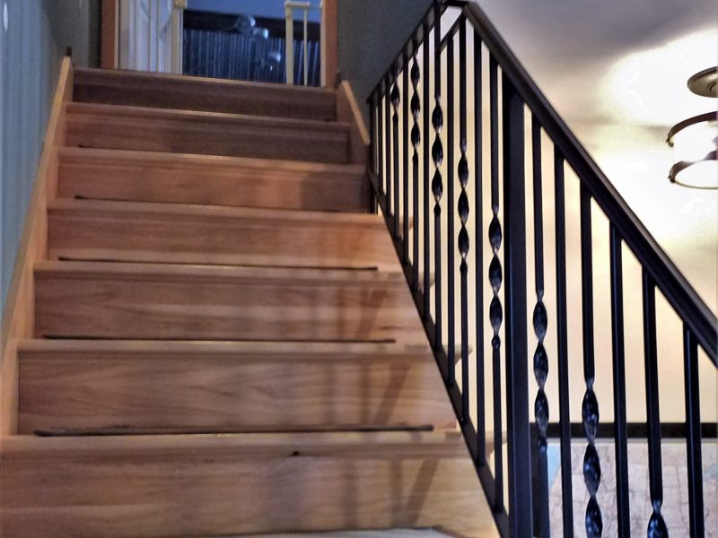 Twisted Wrought Iron Stair Railing - Great Lakes Metal ...