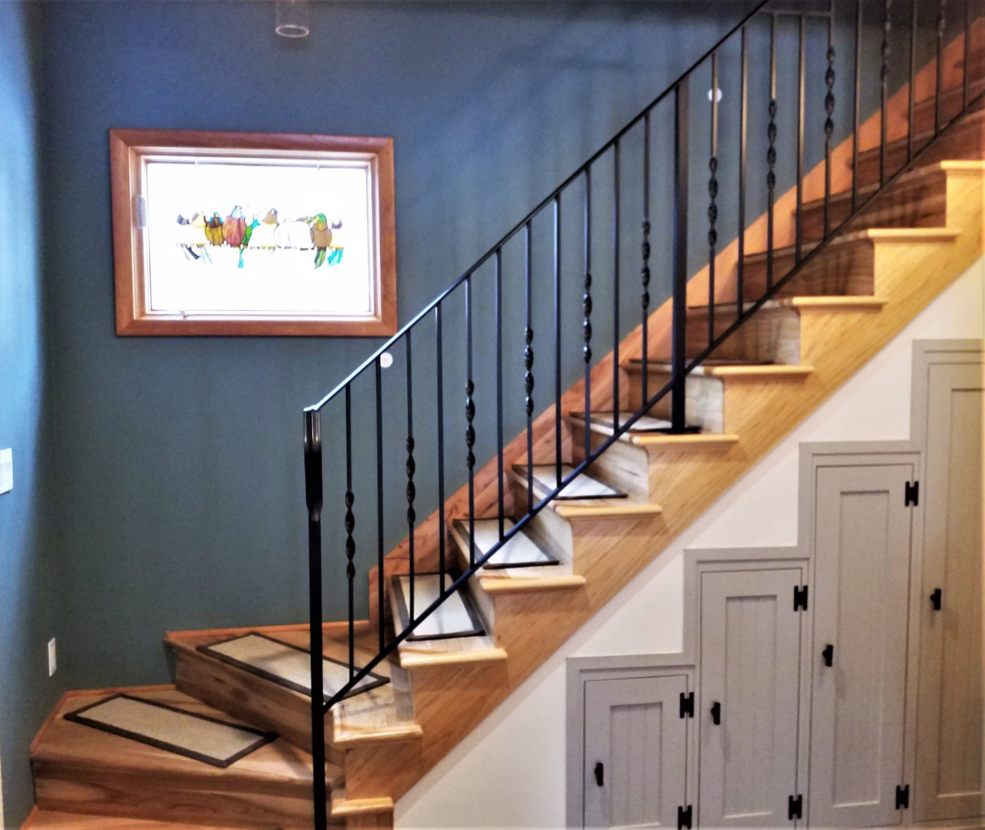 Twisted Wrought Iron Stair Railing