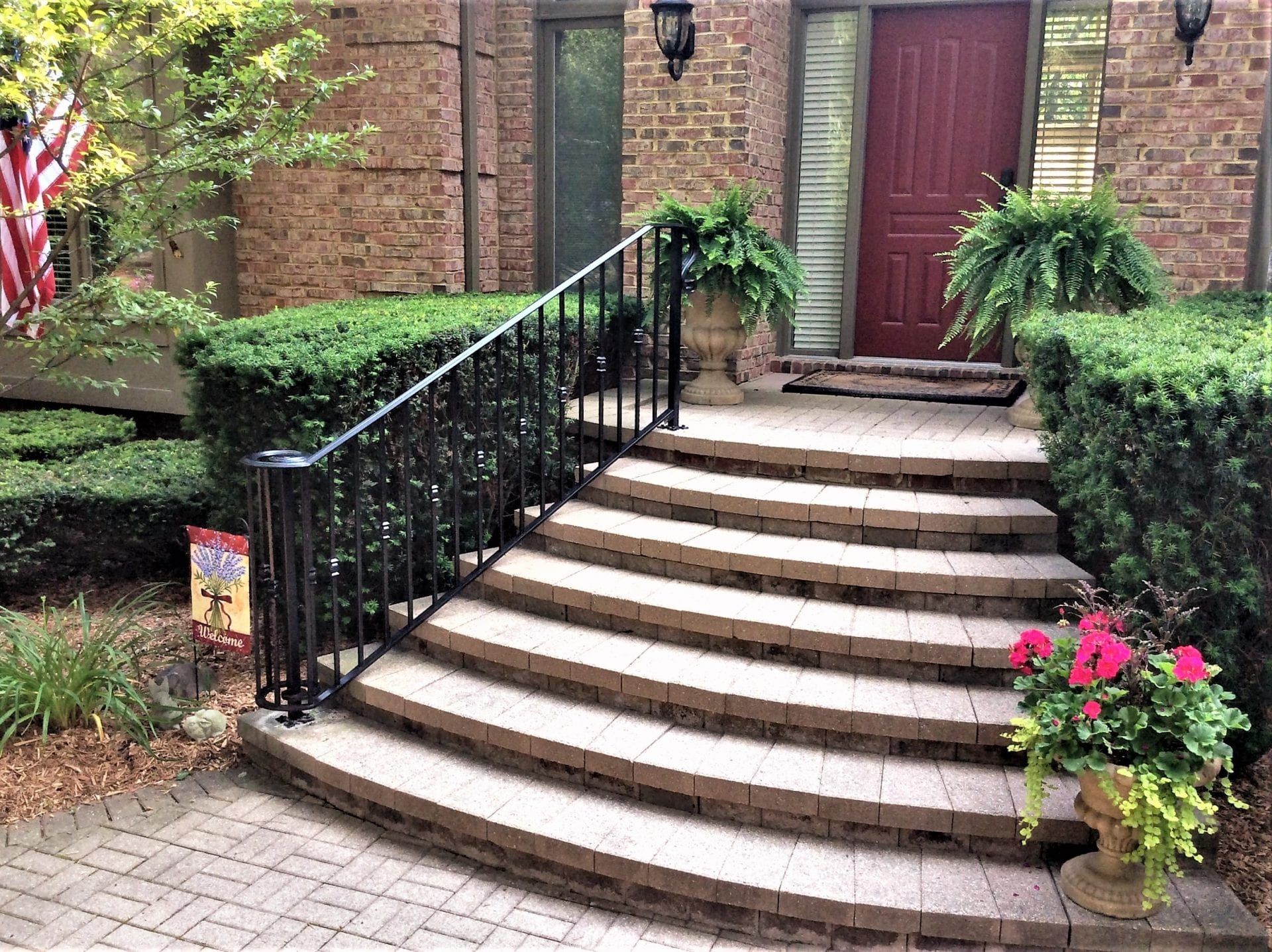 Traditional Wrought Iron Porch Railing - Great Lakes Metal Fabrication