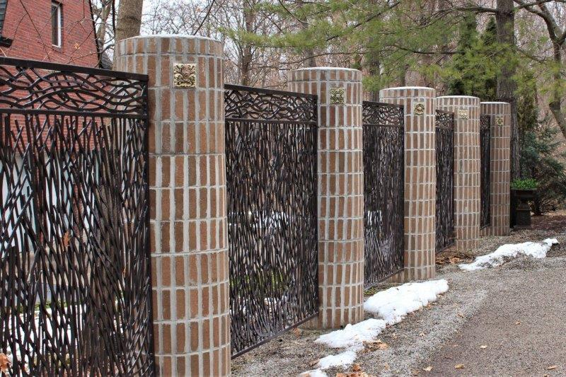 Contemporary Metal Fencing - Great Lakes Metal Fabrication