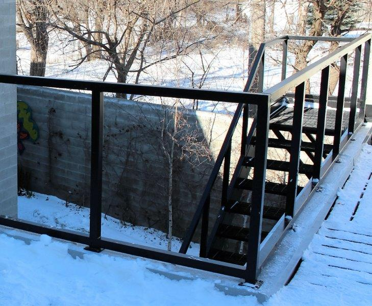 metal railing straight steel mezzanine stairs metal staircase industrial treads commercial stair stringers graffiti block wall detroit stairs