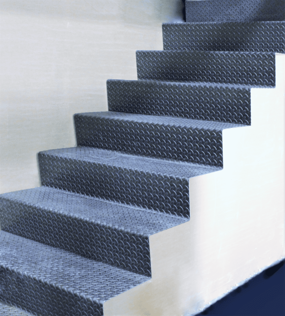 accordion stairs folded bent plate stairs floating monostringer steel plate modern staircase mezzanine stair installed