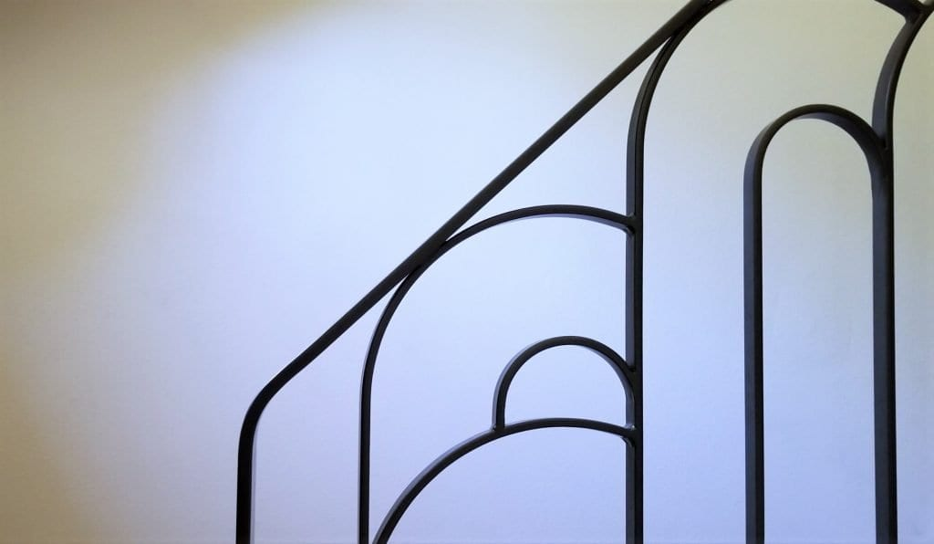 artdeco metal railing modern stair rail interior staircase art deco metal rail oil rubbed bronze wrought iron handrail