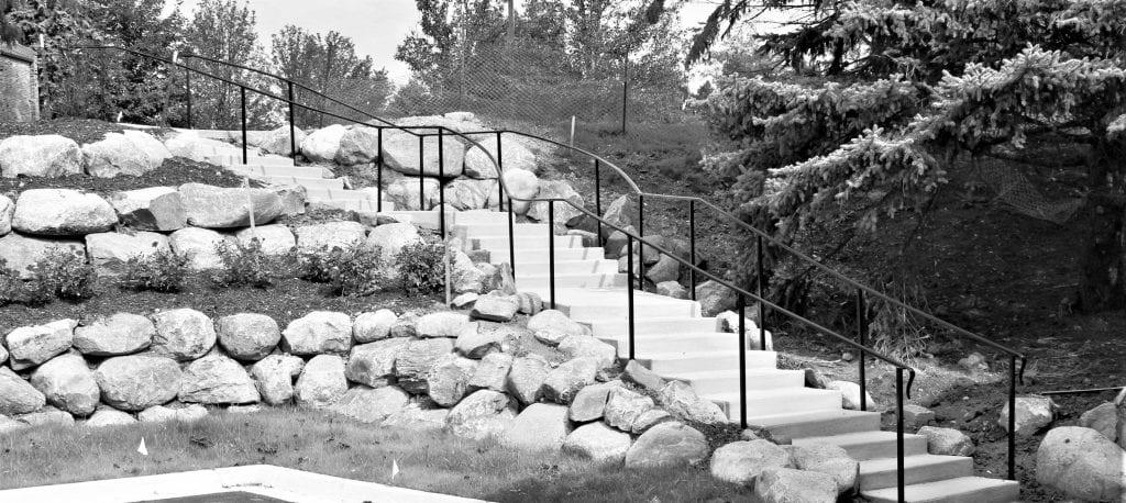 wrought iron landscape stair rail concrete landscape step rail simple landscape railing