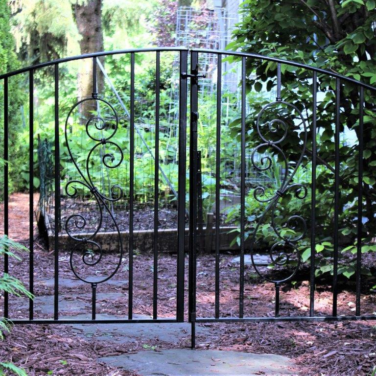 wrought iron gate metal garden gate classic curved gate double swing baby gate wrought iron baby gate