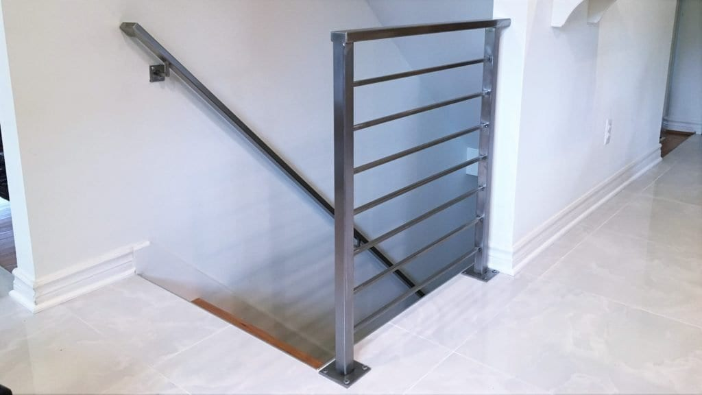 stainless steel horizontal stair rail horizontal bars contemporary wood floor wrought iron rail brushed stainless steel bars stainless handrail