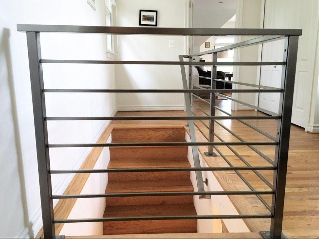 stainless steel horizontal stair rail horizontal bars contemporary wood floor wrought iron rail brushed stainless steel bars stainless handrail