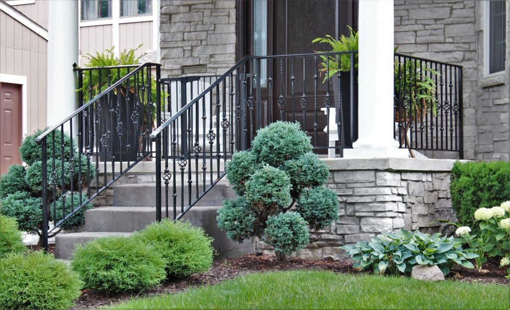 wrought iron porch rail with baskets and collars hammered spindles metal porch rail bloomfield hills
