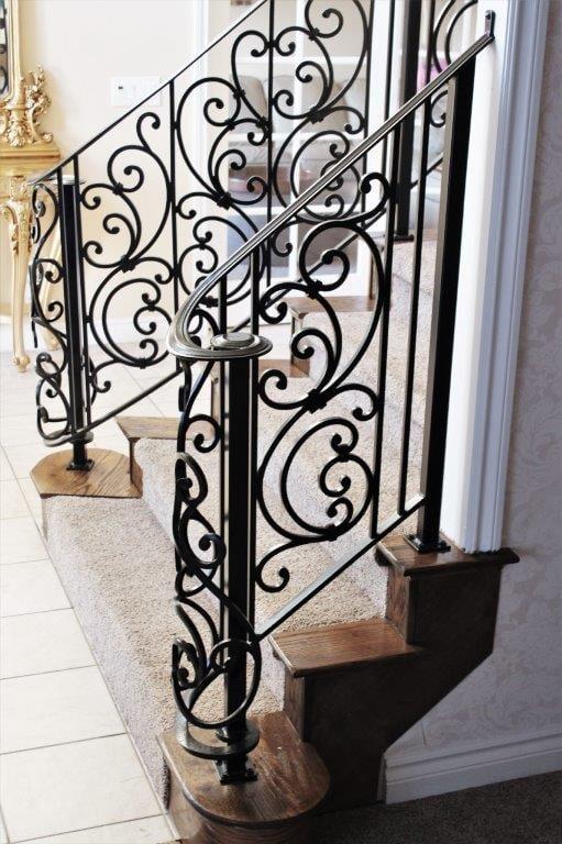 romantic tuscany scroll rail, wrought iron rail, metal balcony railing