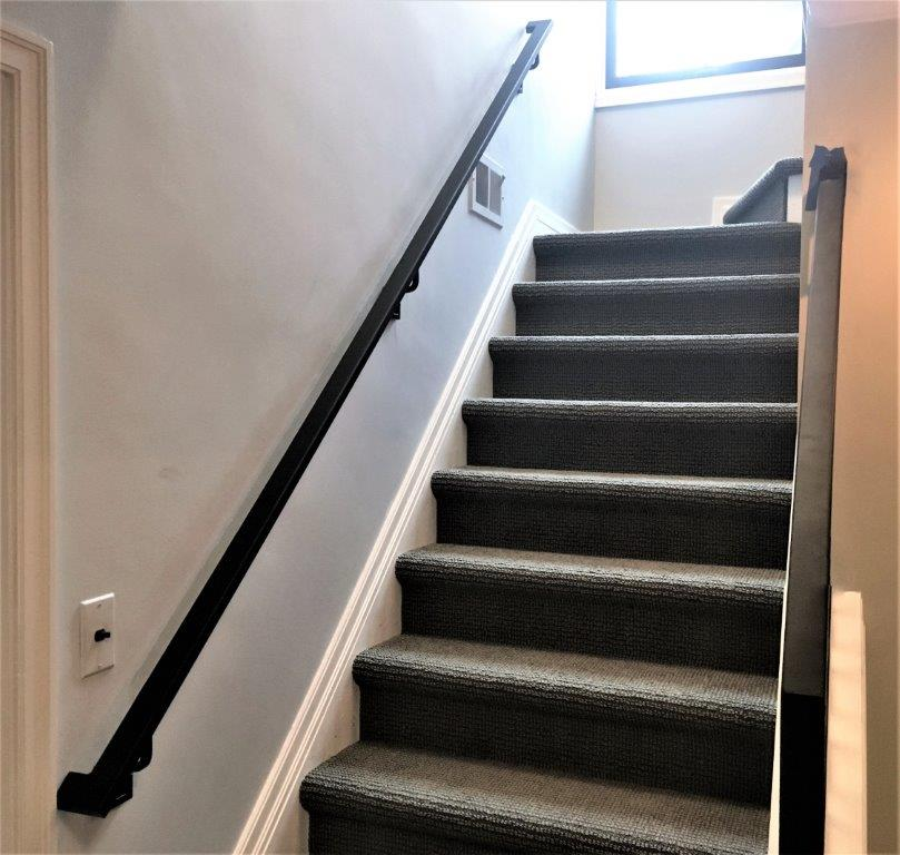 contemporary metal handrail rectangle metal stair rail wrought iron bronze wall-mounted handrail