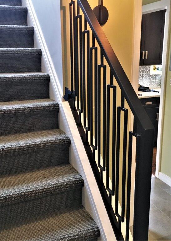 contemporary metal railing rectangle design metal stair rail wrought iron bronze railing