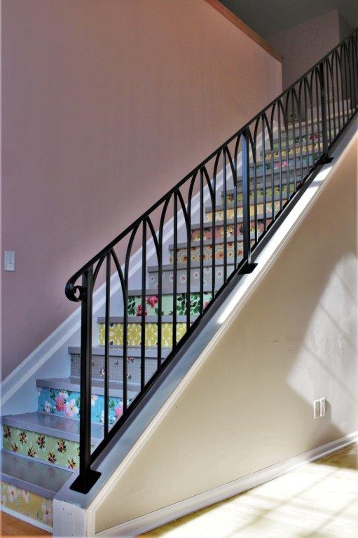 simple sophisticated metal railing metal arches railing for classy interior art deco wrought iron stair rail