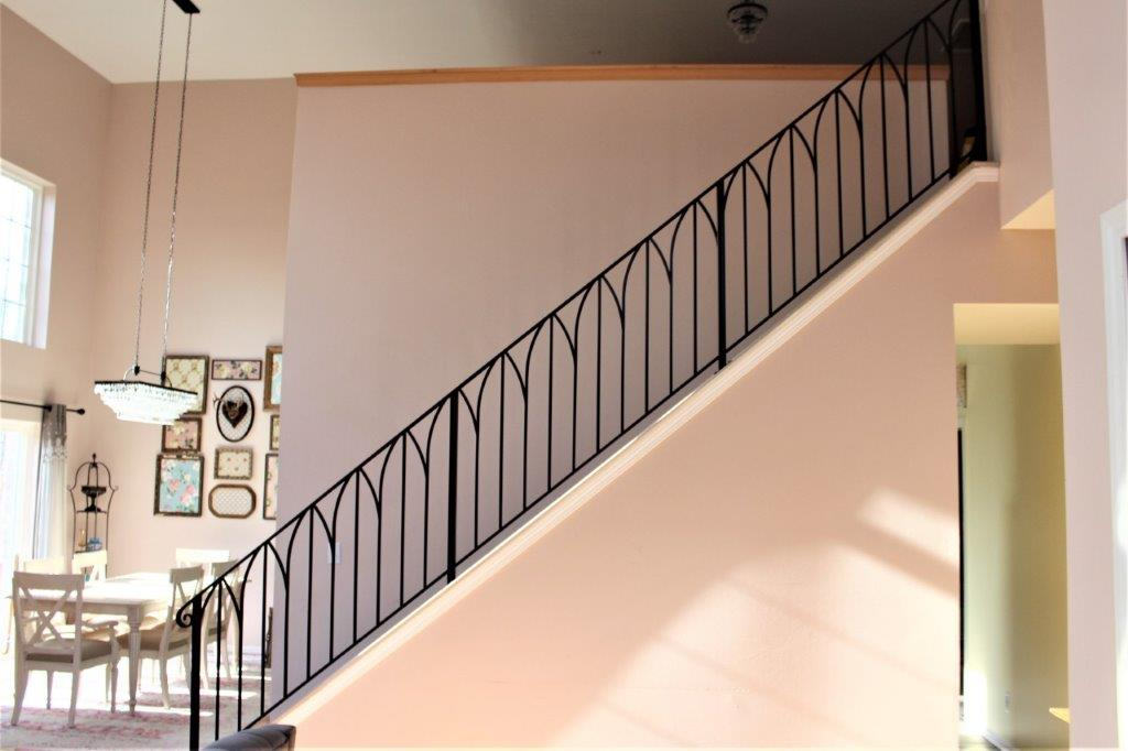 simple sophisticated metal railing metal arches railing for classy interior art deco wrought iron arch rail